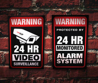 PVC Security/Surveillance Sign (10 Pack)