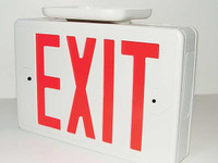 Exit Sign (functional) with high definition CVI