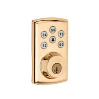SmartCode 888 Polished Brass Z-Wave Lock