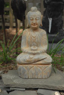 Marble Buddah: 16 inches High x 10 inches wide x 5 inches deep