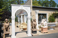 HARD CARVED WHITE MARBLE ARCH SYSTEM, ENTRY