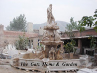 PALATIAL HAND CARVED MARBLE FOUNTAIN, 16FT TALL, HEAVY CARVINGS
