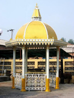 HINDU ARCHITECTURAL INSPIRED CAST IRON GARDEN GAZEBO WITH DOMED ROOF, UNIQUE MODEL 50-03359