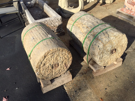 Cylinder Mill Stone Grinding Antique.