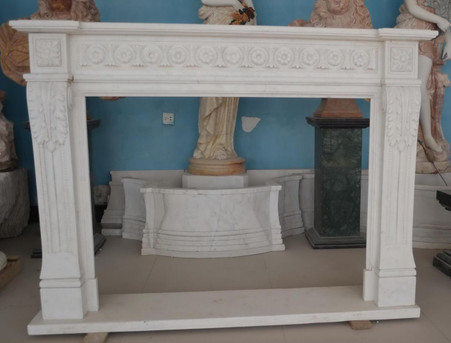 Hand carved Marble French fireplace mantel Italian Design