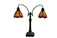 Handel Double Student Lamp Matching Sunset Pine Tree Overlay Shades