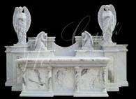 Hand Carved Gothic Marble Altar with Angels
