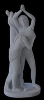 Hand Carved Adam & Eve Marble Statue