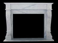 Lovely & Clean Lines -Hand Carved Marble Fireplace Mantel