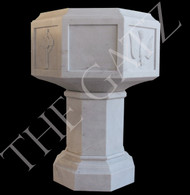 Beautifully Designed Hand Carved Religious Baptismal Font