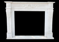 Hand Carved Marble Fireplace Mantel Italian Roman Design