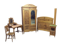 Outstanding Antique 5 piece French Art Nouveau Bedroom