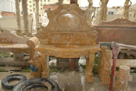 BEAUTIFULLY CARVED MARBLE SINK AND BACK SPLASH, SINGLE BOWL