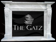White Marble Fireplace Mantel Traditional Clean Style, Hand Carved