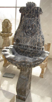"""CLASSIC MARBLE LION WALL FOUNTAIN INCLUDES PLUMBING HOLES, 60"""" TALL"""