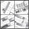 2017 MARCH SKETCH TRIO + 1 BONUS SKETCH: Squares  - Two Pages