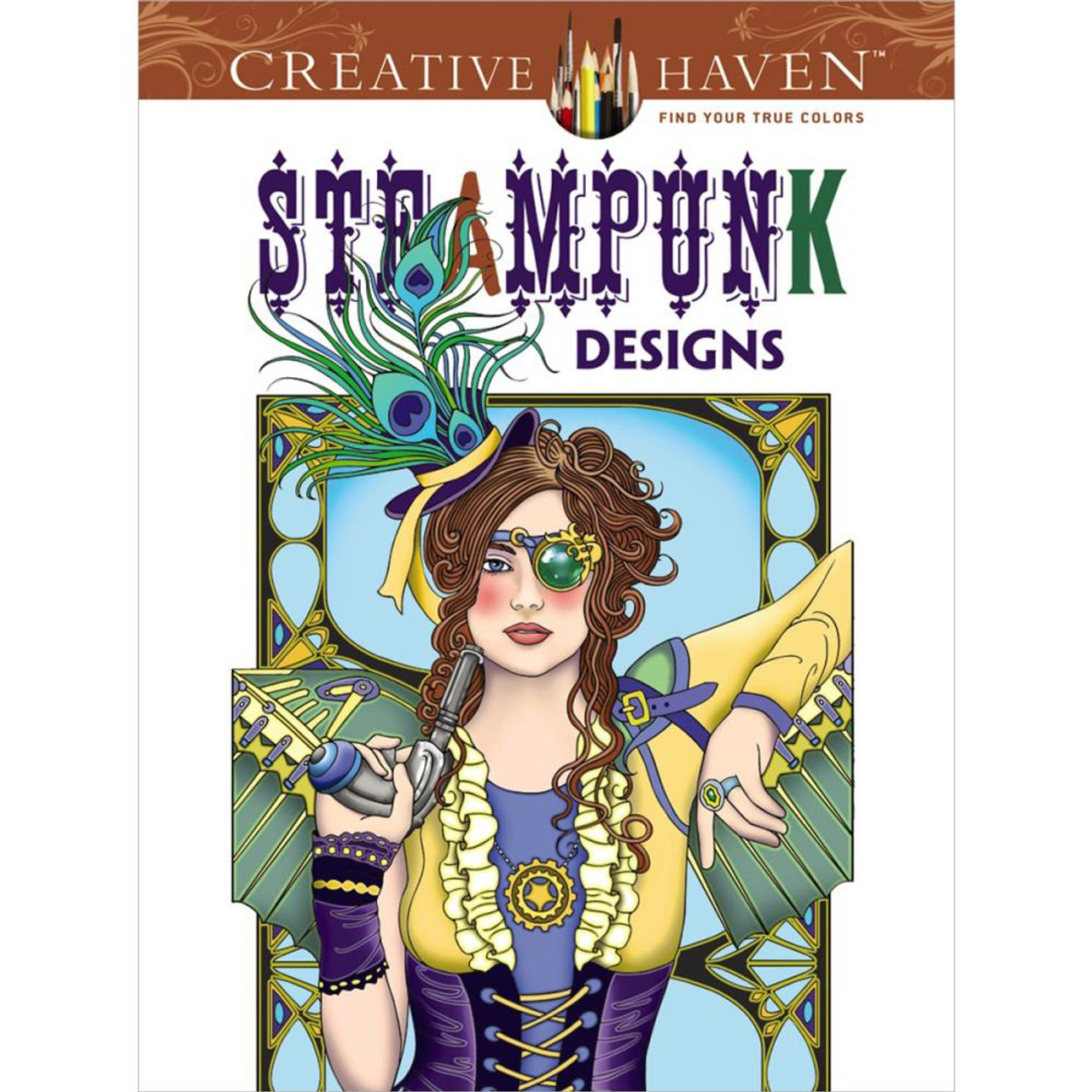 creative haven coloring book steampunk designs - Creative Haven Coloring Books