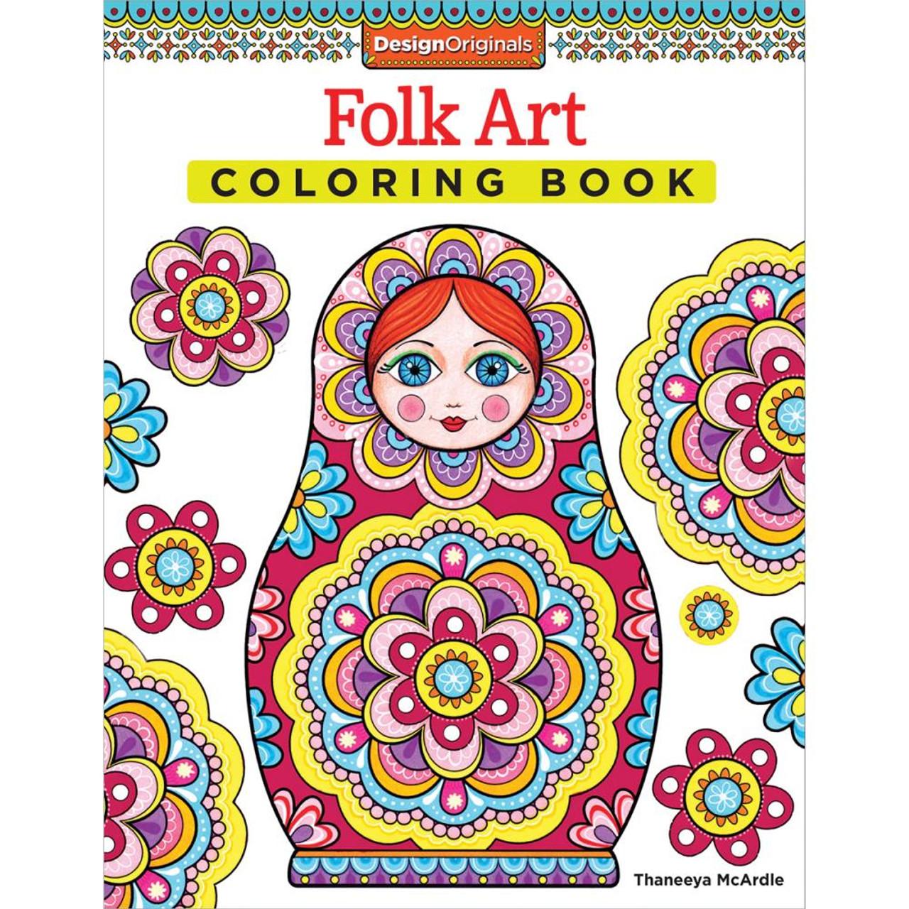 Design Originals Coloring Book Folk Art