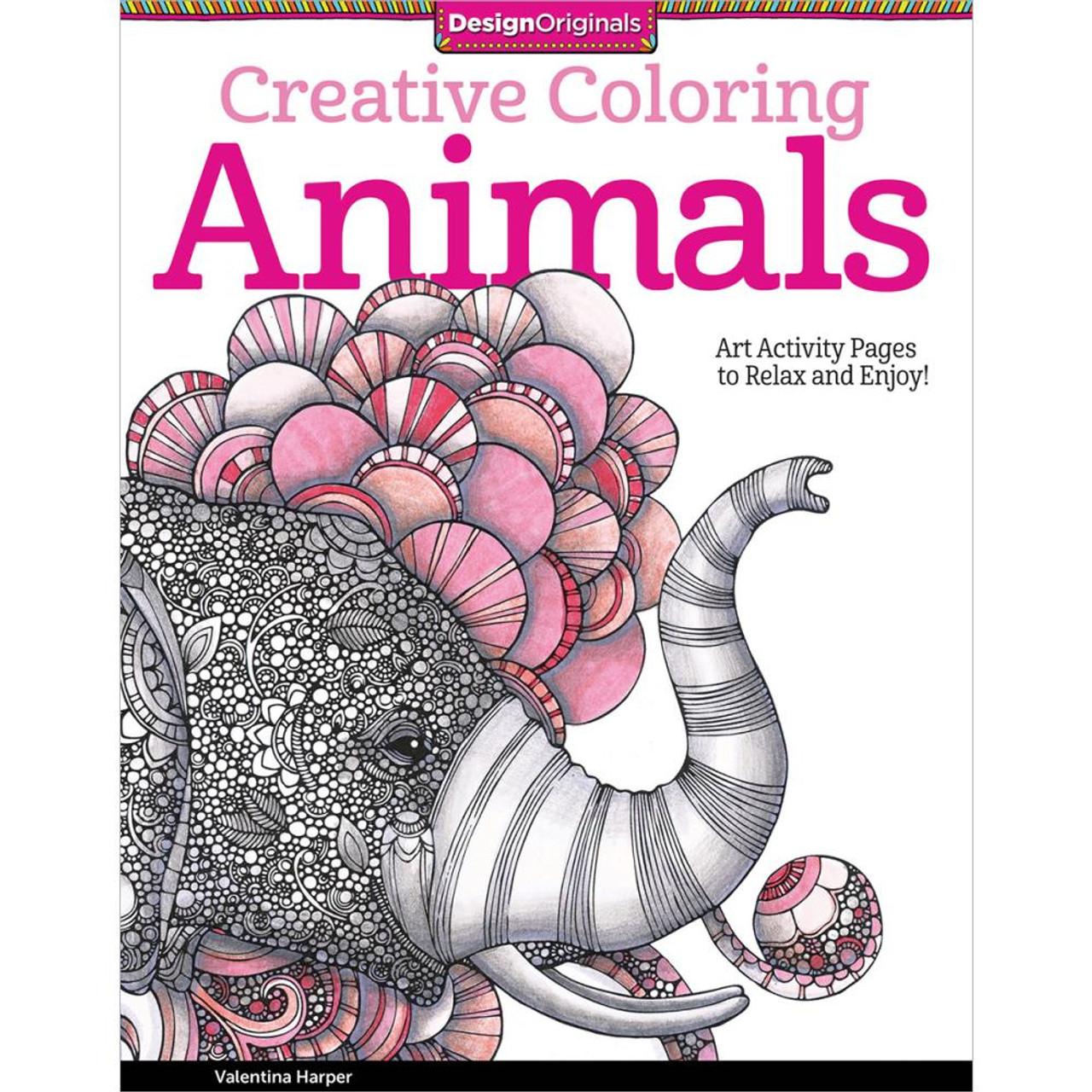 Design Originals Creative Coloring Book Animals