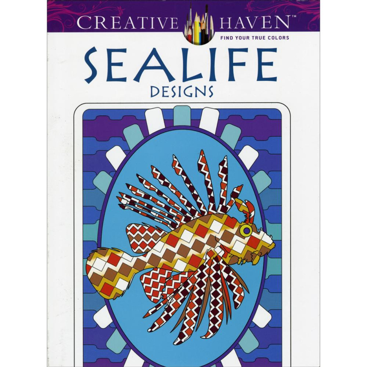 creative haven coloring book sealife - Creative Haven Coloring Books
