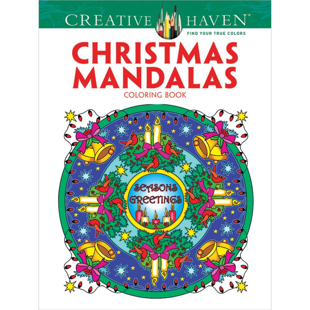 creative haven coloring book christmas mandalas - Creative Haven Coloring Books