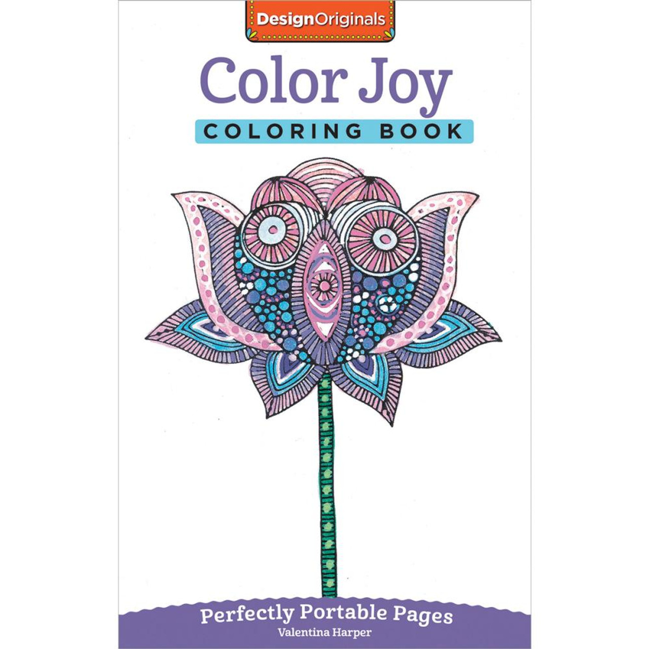 Design Originals Perfectly Portable Pages Coloring Book Color Joy
