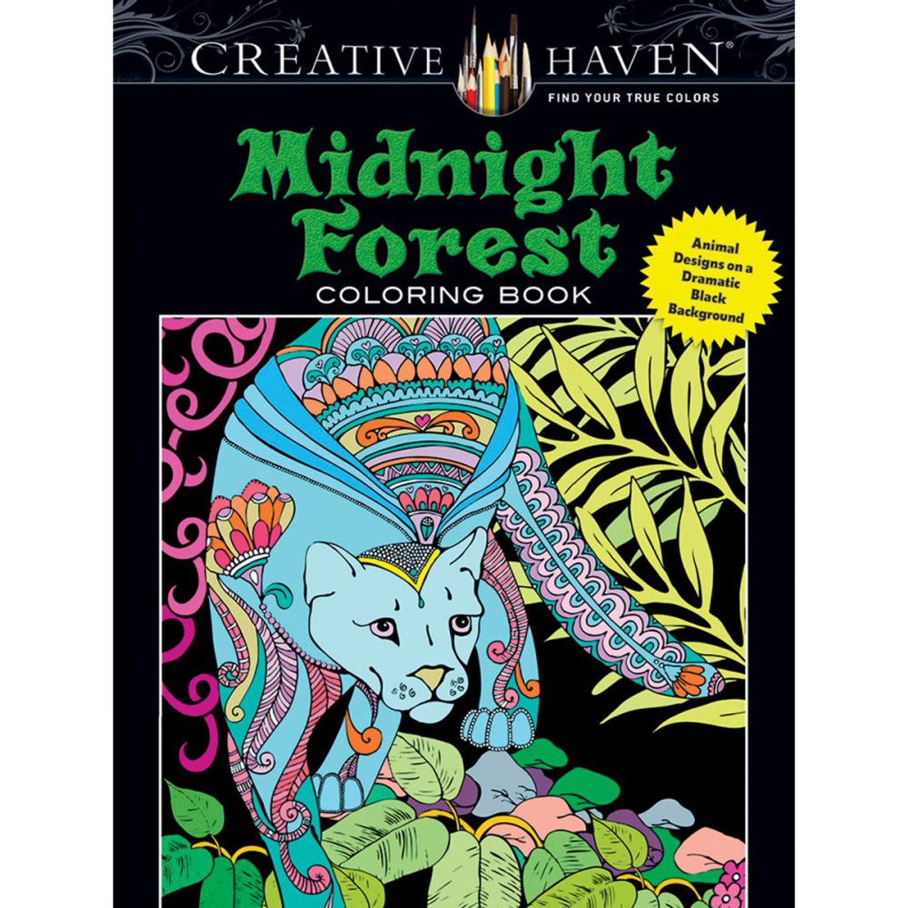 creative haven coloring book midnight forest - Creative Haven Coloring Books