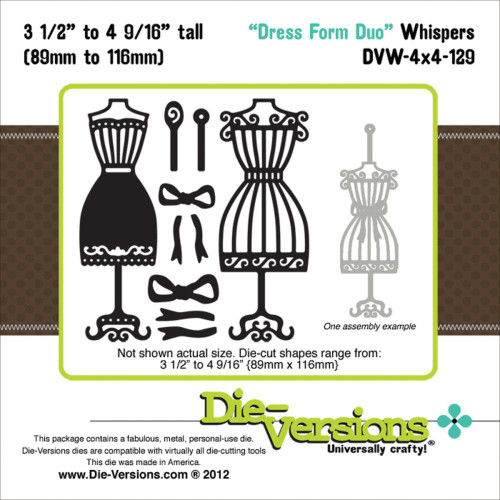 """Die-Versions Whispers: Dress Form Duo, 3.5"""" To 4.5625"""""""