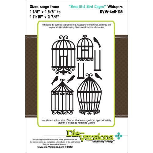 """Die-Versions Whispers: Beautiful Bird Cages, 1.625"""" To 2.875"""""""