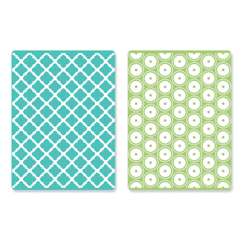 Sizzix Textured Impressions A2 Embossing Folders: Playful & Flower Circle