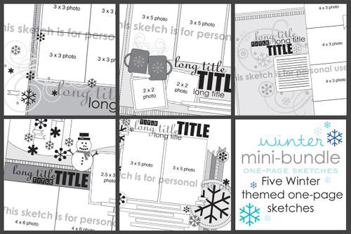 MINI-BUNDLE: January 2015 - Winter One Page