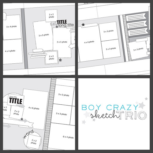 2015 JANUARY SKETCH TRIO: Boy Crazy