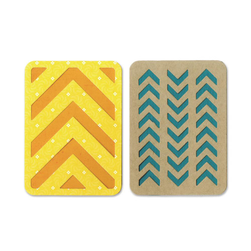 """Sizzix Thinlits Dies: 3""""X4"""" Cards #3 (For Pocket Pages)"""