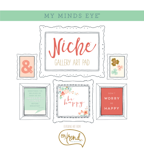 "My Mind's Eye Niche On Trend Foiled Frameables Gallery Art Pad 12""X12"""