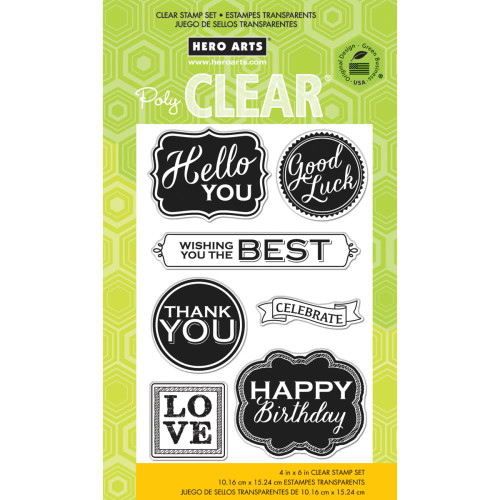 Hero Arts Clear Stamp: Chalkboard Style Messages
