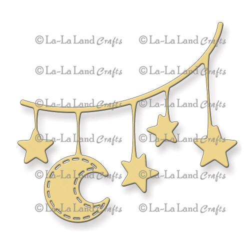 La-La Land Craft Dies: Moon & Stars Banner