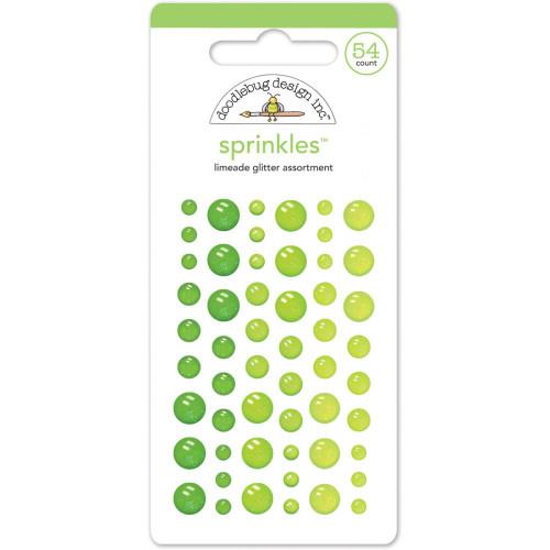 Sprinkles Glitter Enamel Sticker Dots: Limeade