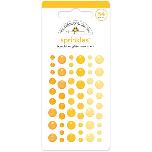 Sprinkles Glitter Enamel Sticker Dots: Bumblebee