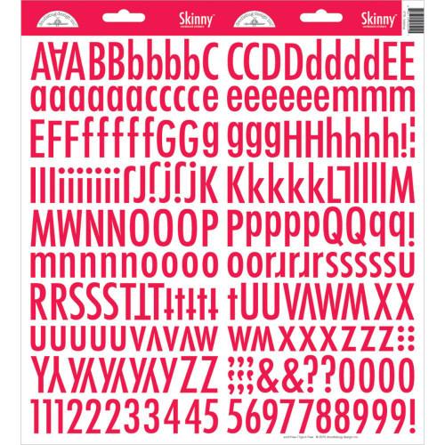 Doodlebug Skinny Cardstock Alphabet Stickers: Ladybug
