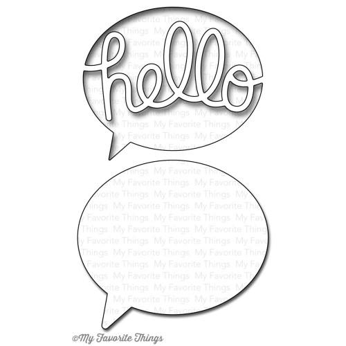 My Favorite Things Die-namics: Say Hello