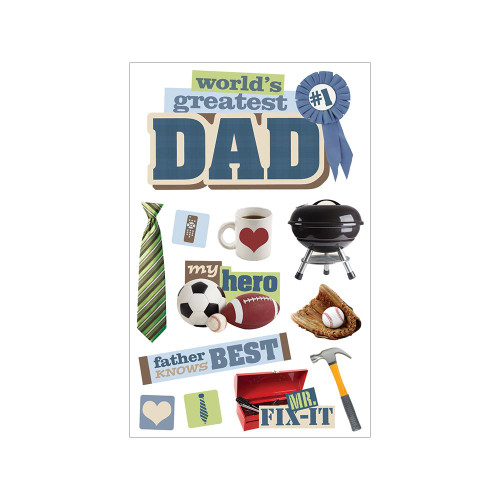 Paper House Productions 3D Stickers: Dad