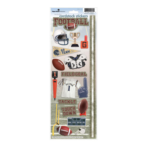 Paper House Productions Cardstock Stickers: Football 2