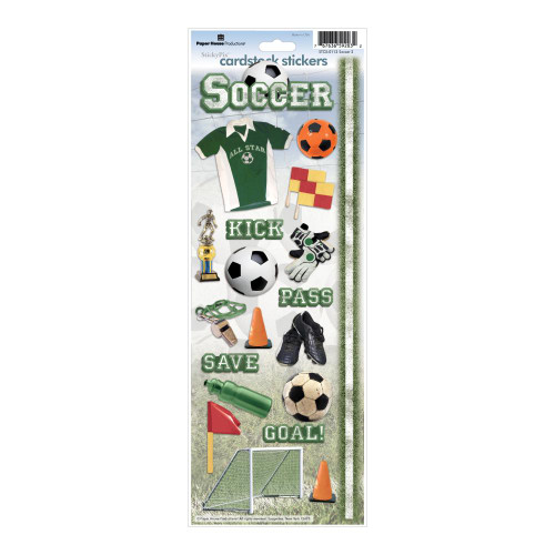Paper House Productions Cardstock Stickers: Soccer 2