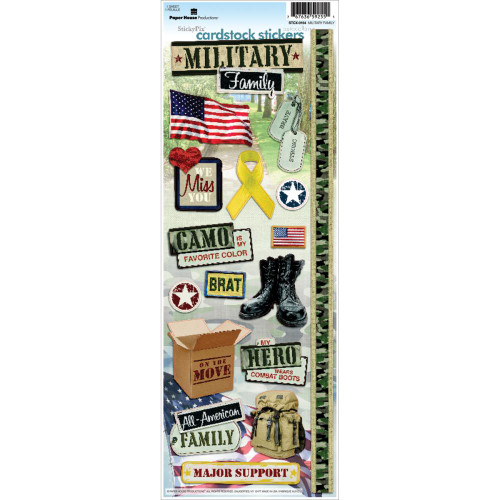 Paper House Productions Cardstock Stickers: Military Family