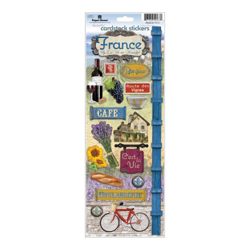 Paper House Productions Cardstock Stickers: France