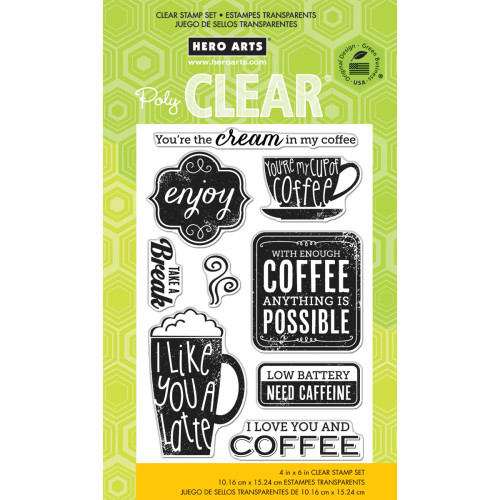 Hero Arts Clear Stamp: Need Caffeine