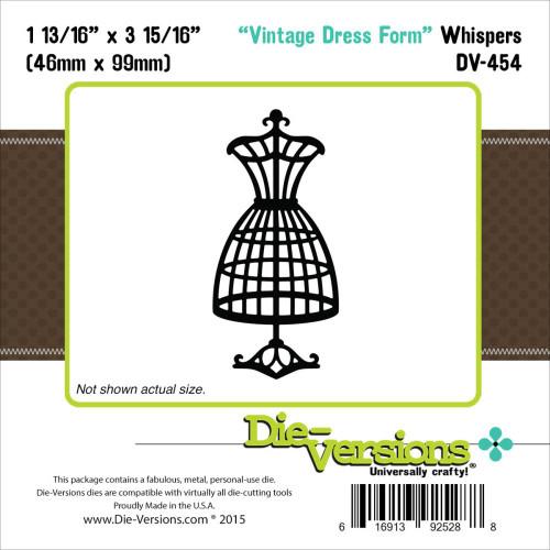 Die-Versions Whispers: Vintage Dress Form