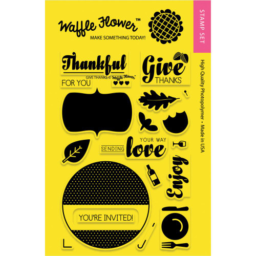 Waffle Flower Crafts Coordinating Die/Stamp Combos: Give Thanks