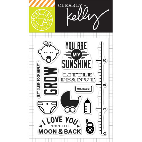 Hero Arts Clearly Kelly Stamps: Oh Baby