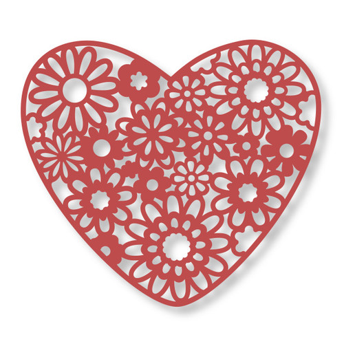 Couture Creations Decorative Dies: Floral Lace Collection - Heart Bouquet